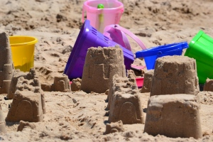 Mix sand and water with moms, dads and kids. Remove electronics. Add love. Yield: sand castles and life long memories.
