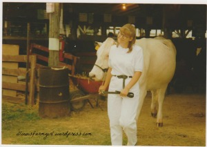Show day cira 1992 (?). Me and Lily sporting white!