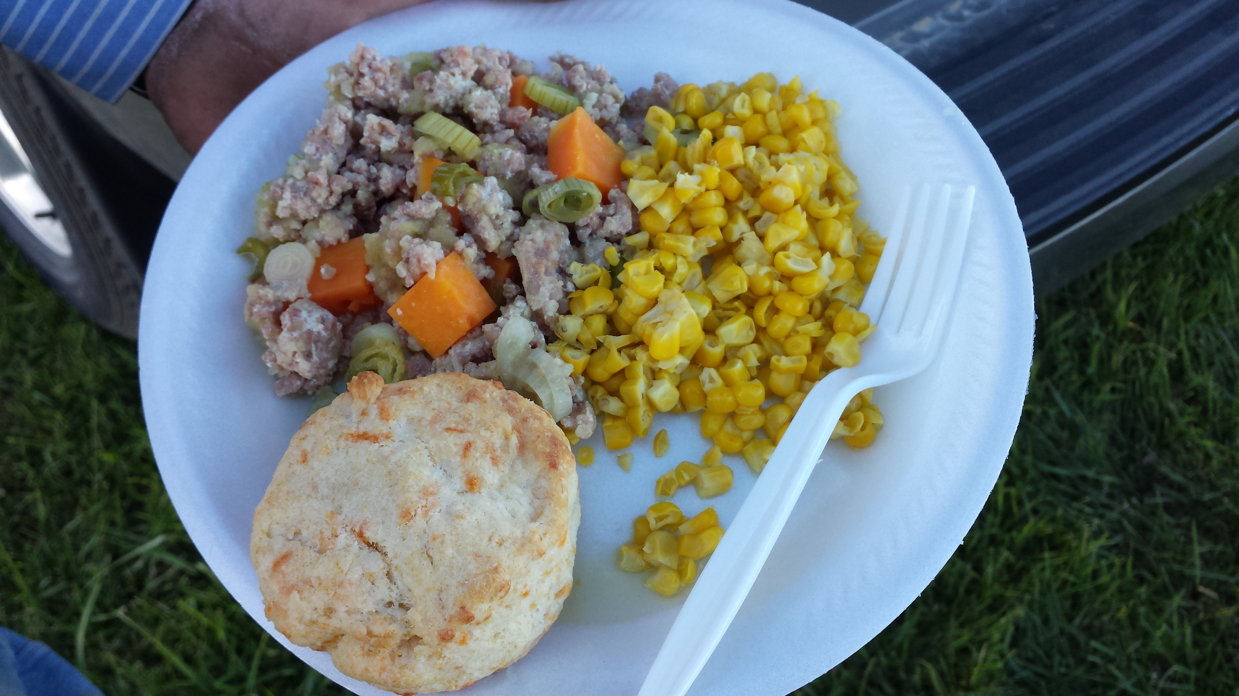 Meal 1: Ham Sausage & Sweet Potato Hash, Sweet Corn, Cheddar Cheese ...