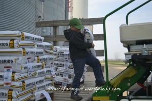 Ethan loads planter