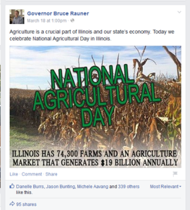 From the governor's facebook page. A declaration that doesn't seem to jive with this budget cut.