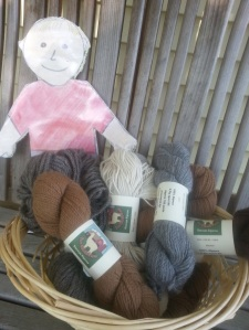 Figure 12. This yarn was made from our alpacas.