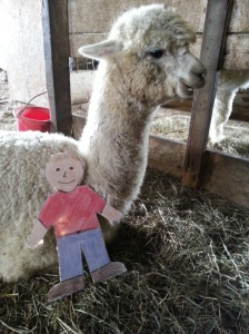 Figure 2. Aggie having a cuddle with Magic.