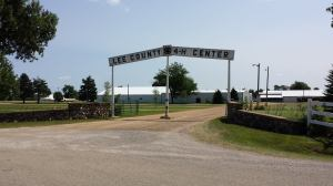 An empty grounds will be bustling in a just a day.  Fair week is upon us!
