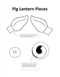 Pig Lantern Pieces